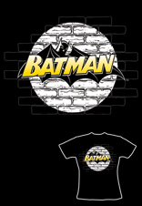 Classic Logo Ladies Fitted T-Shirt Official Batman
